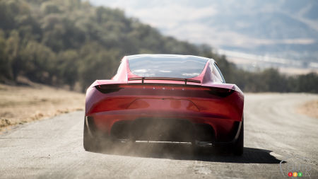 Tesla Roadster concept, rear