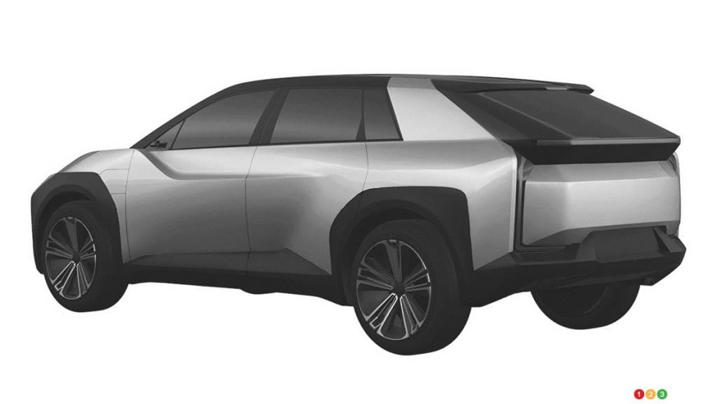 Prototype VUS électrique de Toyota, trois quarts arrière