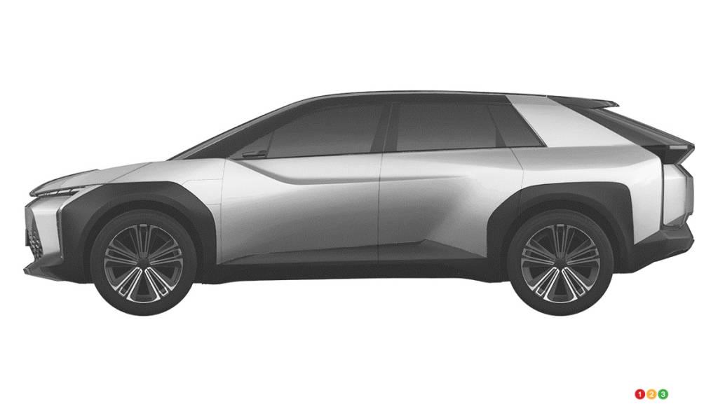 Prototype VUS électrique de Toyota, profil