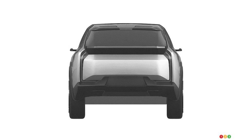 Prototype VUS électrique de Toyota, arrière