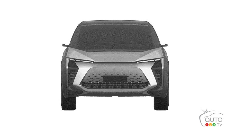 Prototype VUS électrique de Toyota, avant