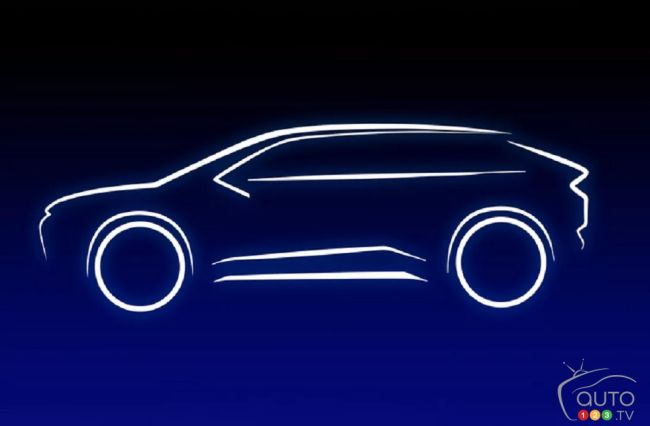 Contours of the future Toyota electric SUV