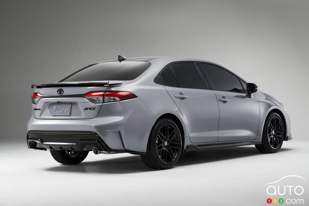Toyota Corolla Apex Edition 2021, trois quarts arrière