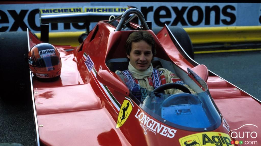 Gilles Villeneuve, au volant