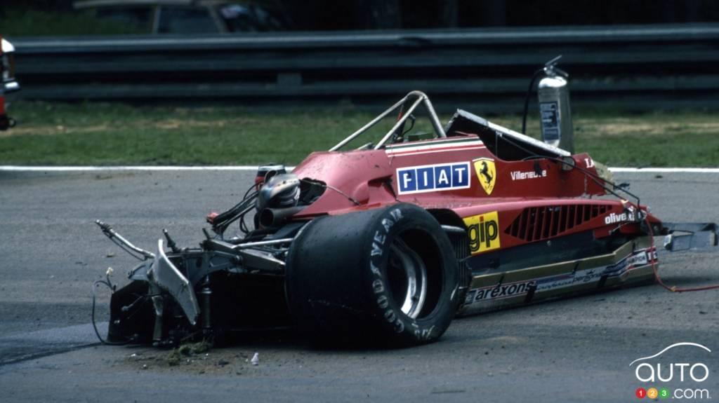 La voiture de Gilles Villeneuve, le 8 mai 1982