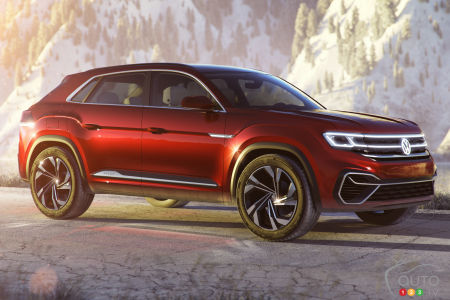 Prototype Volkswagen Atlas Cross Sport
