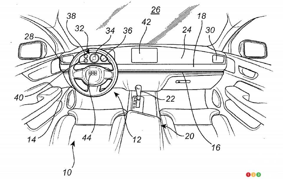 Brevet de Volvo pour un volant coulissant, fig. 1