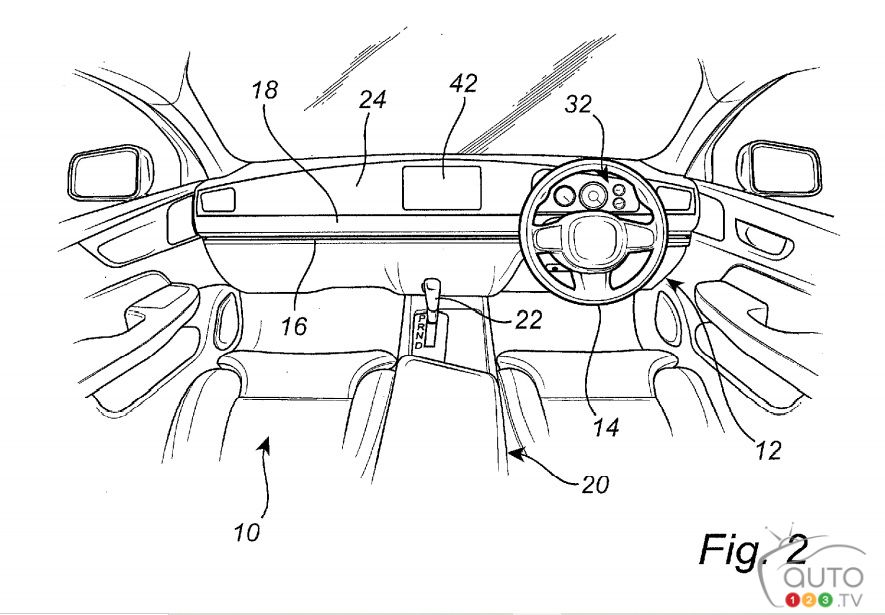 Brevet de Volvo pour un volant coulissant, fig. 2