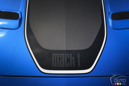 2021 Ford Mustang Mach 1, hood