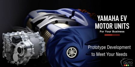 Yamaha's electric motor, ready to do business