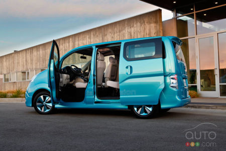 Video of the Nissan e-NV200 Concept at the Detroit Auto Show
