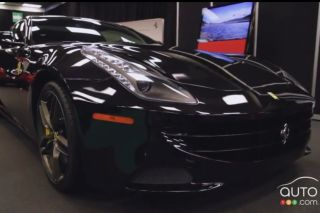 2012 Ferrari FF video preview during the Montreal Auto Show (french)