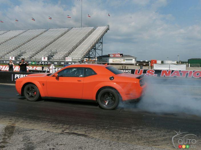 The 2018 Dodge Challenger SRT Demon and other SRT beasts light up the track | Photo 27 of 79 ...