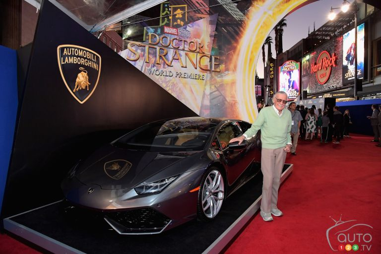 Lamborghini Huracan at Marvel's Doctor Strange red carpet