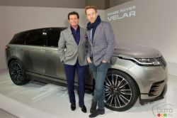 Land Rover Chief Designer Gerry Mc Govern (left) and actor Damian Lewis (right)