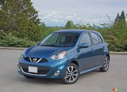2016 Nissan Micra SR front 3/4 view