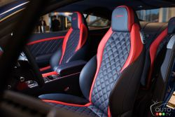 Bentley Continental GT Speed front seats