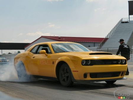 The 2018 Dodge Challenger SRT Demon and other SRT beasts light up the track