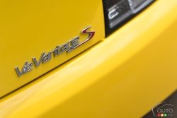 2015 Aston Martin V12 Vantage S model badge