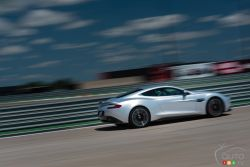 2015 Aston Martin Vanquish dies view on track