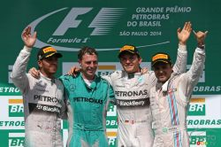Lewis Hamilton, Mercedes F1 Team. Nico Rosberg,  Mercedes F1 Team. Felipe Massa, Williams F1 Team.