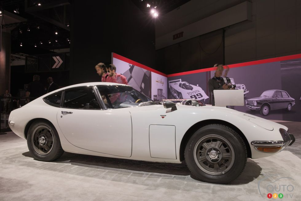 Toyota vintage cars display pictures at the 2014 Los Angeles auto ...