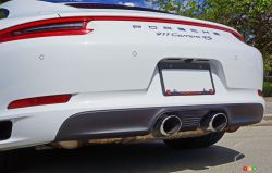 2017 Porsche 911 Carrera 4s exhaust