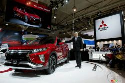 Tony Laframboise unveils the all-new 2018 Eclipse Cross at the Canadian International Auto Show.
