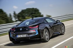 Rear view of the BMW i8