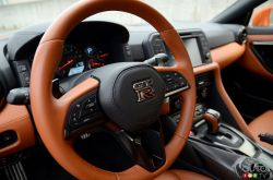 2017 Nissan GT-R steering wheel