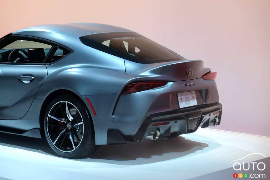 montr al 2019 la toyota supra 2020 en primeur canadienne actualit s automobile auto123. Black Bedroom Furniture Sets. Home Design Ideas