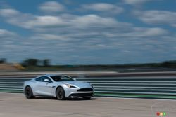 2015 Aston Martin Vanquish Front 3/4 view on track