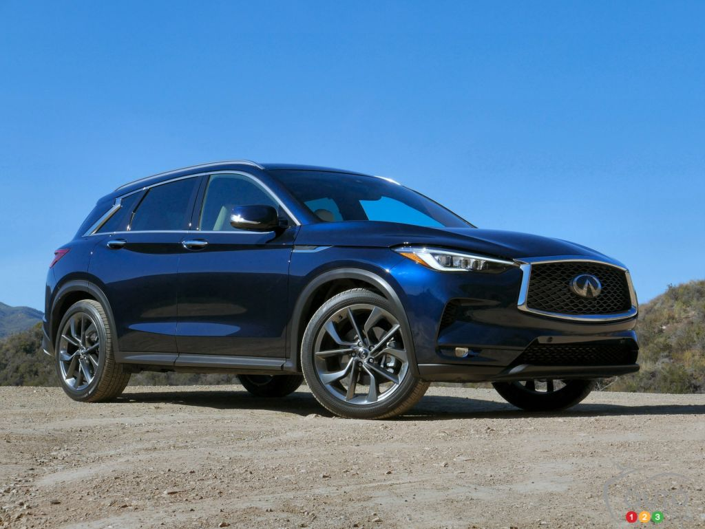 the front lane luxury fast think infiniti updated truck suv