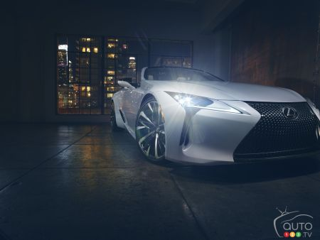 Photos du prototype Lexus LC Convertible 2020