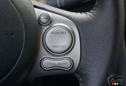 2016 Nissan Micra SR steering wheel mounted cruise controls