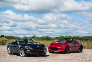 2017 Fiat 124 Spider and 2016 Mazda MX-5 Sport pictures