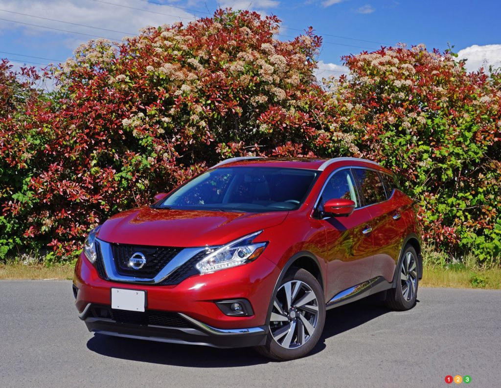 2016 nissan murano platinum is almost a luxury suv car reviews auto123. Black Bedroom Furniture Sets. Home Design Ideas