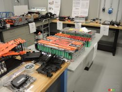 Different batteries of competing vehicles analyzed in this laboratory.