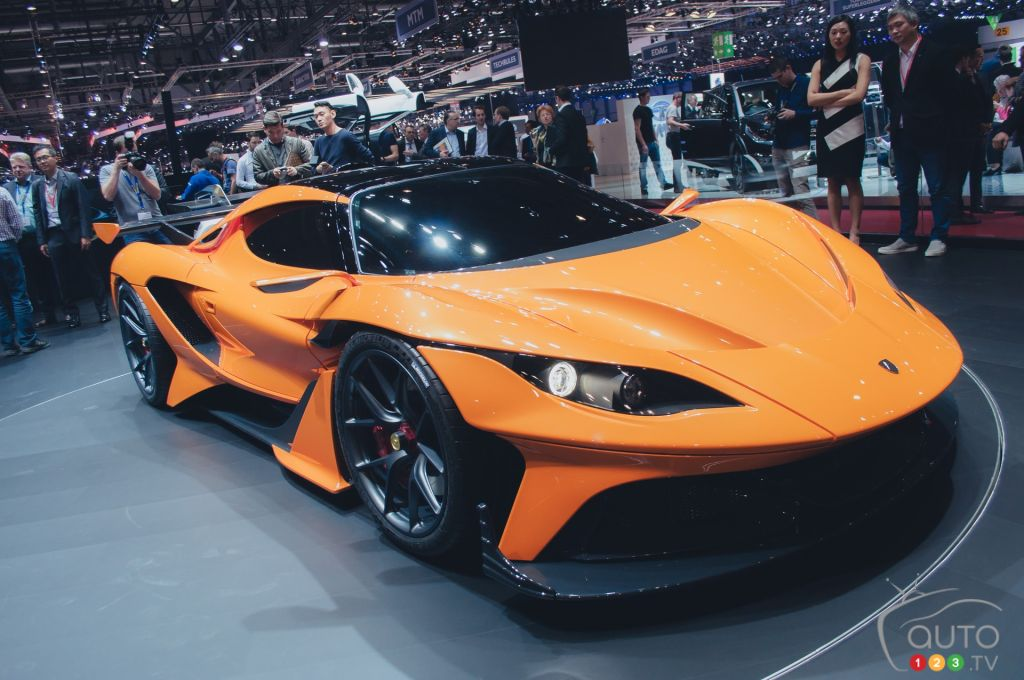 Sports Car From The 2016 Geneva Auto Show   Apollo Arrow Photo: M.St Pierre
