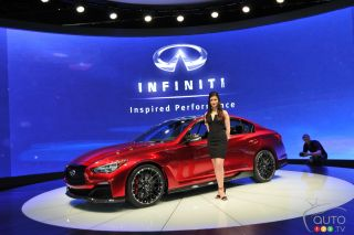 2014 Infinit Q50 Eau Rouge concept pictures at the Detroit auto-show